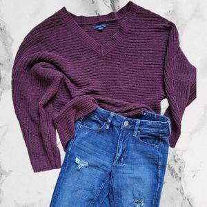 AE Chunky knit fall sweater